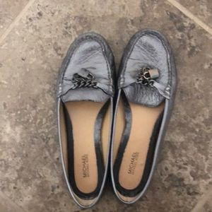 Michael Kors pewter loafers